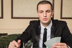 Poker player Royalty Free Stock Image