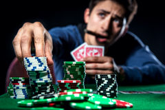 Poker player Royalty Free Stock Image