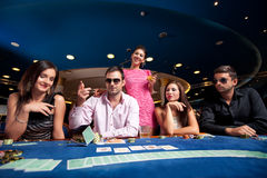 Poker players Royalty Free Stock Photography