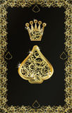 Poker playing card Spade symbol, vector Royalty Free Stock Photography