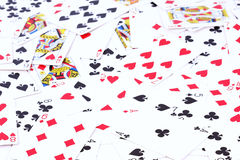 Poker playing cards background Royalty Free Stock Photos