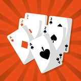 Poker playing cards deck hazard chance. Vector illustration vector illustration