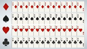 Poker playing cards, full deck. vector illustration