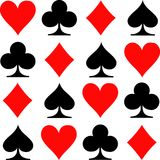 Poker playing cards icons. Vector stock illustration