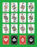 Poker playing cards. Set of beautiful designer playing cards of all suits Royalty Free Stock Image