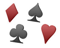 Poker playing cards symbols Royalty Free Stock Image