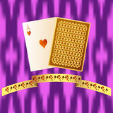 Poker playing cards. Vector casino or blackjack illustration Royalty Free Stock Photo