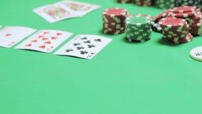 Poker preciso del Texas del gioco in casinò video d archivio