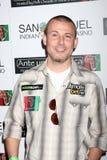 """Poker-Pro Joe Sebok, der oben zu dem 2. jährlichen """"Einsatz für Afrika"""" Poker-Turnier kommt Lizenzfreie Stockfotos"""