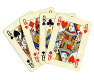 Poker of queens cards Stock Images