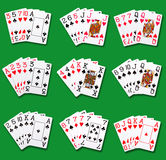Poker rankings Stock Photography