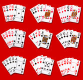 Poker rankings Royalty Free Stock Images