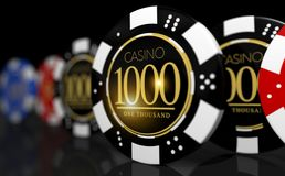 Poker-Roulette-Spiel-Chips Lizenzfreies Stockfoto