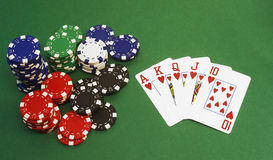 Poker - Royal Flush Stockfotos