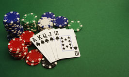 Poker - Royal Flush Lizenzfreies Stockbild