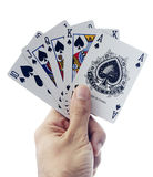 Poker royal flush isolated Royalty Free Stock Photo