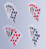 Poker Royal Flush Playing Cards. Hand In All Suits Stock Photography