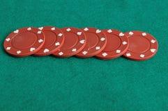 poker rozdrobnione czerwone Zdjęcia Stock
