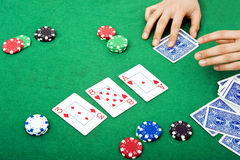 Poker scene Stock Photo
