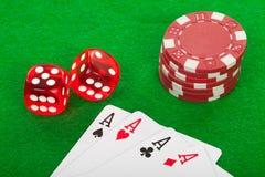 Poker scene Stock Image