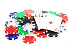 Poker scene Royalty Free Stock Images