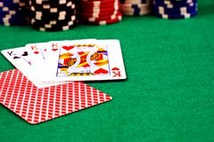Poker Scene Royalty Free Stock Photography