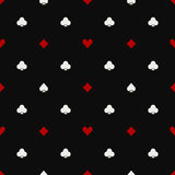 Poker seamless pattern Royalty Free Stock Photography