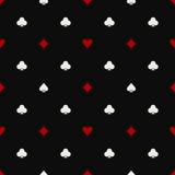 Poker seamless pattern Royalty Free Stock Photography