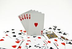 Poker Seriers Royalty Free Stock Photos