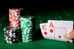Poker set 1 Stock Photos