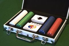 Poker Set Stock Photos