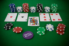 Poker set Royalty Free Stock Photography