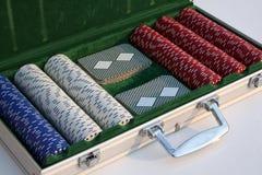 Poker set. Professional poker set Stock Photo