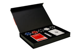 Poker set in the black box Royalty Free Stock Photo