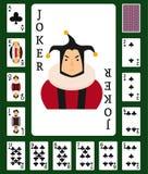 Poker set with cards casino gambling deck playing royal king queen jack gamble symbols vector illustration. Poker set with cards casino gambling deck playing stock illustration
