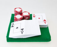Poker set Royalty Free Stock Photo