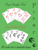 Poker set with cards and text Stock Photo