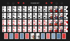 Free Poker Set With Isolated Cards On Green Background. Poker Playing Cards - Full Deck Stock Images - 214428254