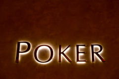 Poker sign Royalty Free Stock Photos