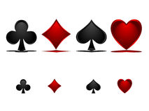 Poker Signs. You can use them as icons on your website .They are ready to be printed at any size because they are in  file, too Stock Photos