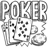 Poker sketch Royalty Free Stock Images