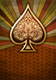 Poker spade design on a textured background. Abstract illustration of an ace of spades, textured paper, ideal for work related to poker, gambling, contests Royalty Free Stock Images