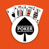 Poker spade emblem casino cards fortune game. Vector illustration Royalty Free Stock Image
