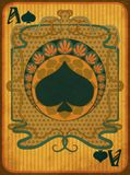Poker spades card in art nouveau style, vector vector illustration