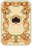 Poker spades card in art nouveau style, vector. Illustration Stock Image
