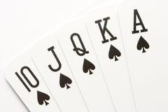 Free Poker - Spades Royal Flush Stock Photos - 7192173