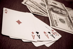 Poker and stake Royalty Free Stock Photography