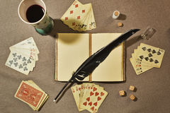 Poker still life Stock Photography