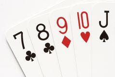 Poker - straight Stock Images