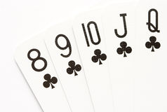 Poker - straight flush Royalty Free Stock Image
